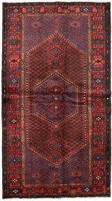 Hamadan Rug 127X228 Authentic Oriental Handknotted Dark Red/Black (Wool, Persia/Iran)