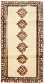 Shiraz Matto 103X200 Itämainen Käsinsolmittu Beige/Ruskea (Villa, Persia/Iran)