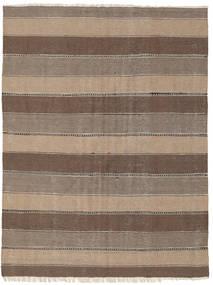 Kelim Tæppe 145X195 Ægte Orientalsk Håndvævet Lysebrun/Brun (Uld, Persien/Iran)