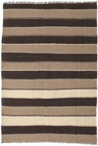 Kilim Rug 174X254 Authentic  Oriental Handwoven Light Brown/Dark Brown (Wool, Persia/Iran)