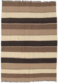 Kilim Rug 136X188 Authentic  Oriental Handwoven Light Brown/Brown (Wool, Persia/Iran)