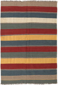 Kilim Rug 135X197 Authentic  Oriental Handwoven Dark Red/Blue (Wool, Persia/Iran)