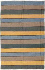 Kilim Rug 168X252 Authentic  Oriental Handwoven Light Brown/Dark Green (Wool, Persia/Iran)