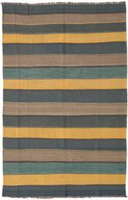 Kilim Rug 168X262 Authentic  Oriental Handwoven Black/Light Brown/Light Grey (Wool, Persia/Iran)