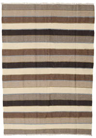 Kilim Rug 167X240 Authentic  Oriental Handwoven Light Brown/Brown (Wool, Persia/Iran)