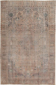 Colored Vintage Rug 196X296 Authentic  Modern Handknotted Light Brown/Light Grey (Wool, Pakistan)