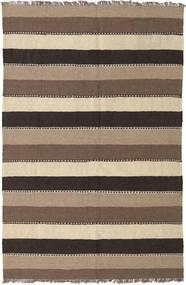 Kilim Rug 130X200 Authentic Oriental Handwoven Light Brown/Dark Grey (Wool, Persia/Iran)