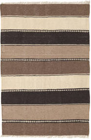 Kelim Matta 80X120 Äkta Orientalisk Handvävd Ljusbrun/Brun/Beige/Mörkbrun (Ull, Persien/Iran)
