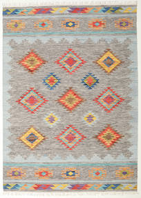 Spring Kilim Rug 240X340 Authentic  Modern Handwoven Light Grey/Dark Beige (Wool, India)
