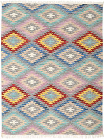 Spring Kilim Rug 210X290 Authentic  Modern Handwoven Light Grey/Beige (Wool, India)