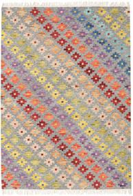 Spring Kilim Tappeto 160X230 Moderno Tessuto A Mano Grigio Chiaro/Beige Scuro (Lana, India)