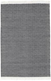 Diamond Wolle - Schwarz Teppich  120X180 Echter Moderner Handgewebter Dunkelgrau/Hellgrau (Wolle, Indien)
