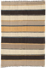 Kilim Rug 133X198 Authentic  Oriental Handwoven Light Brown/Dark Brown/Beige (Wool, Persia/Iran)