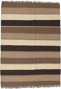 Kelim Teppe 132X186 Ekte Orientalsk Håndvevd Brun/Mørk Brun (Ull, Persia/Iran)