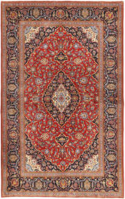 Keshan Rug 143X227 Authentic  Oriental Handknotted Brown/Dark Brown (Wool, Persia/Iran)