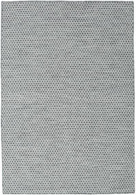 Kilim Honey Comb - Dark Grey Rug 160X230 Authentic  Modern Handwoven Light Grey/Dark Grey/Blue (Wool, India)