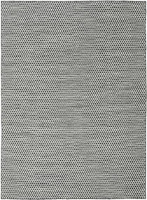Kilim Honey Comb - Black/Grey Rug 210X290 Authentic  Modern Handwoven Light Grey/Dark Grey (Wool, India)