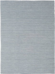 Kilim Honey Comb - Blue Rug 210X290 Authentic  Modern Handwoven Light Grey/Light Blue (Wool, India)