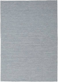 Kilim Honey Comb - Blue Rug 240X340 Authentic  Modern Handwoven Light Grey/Light Blue (Wool, India)