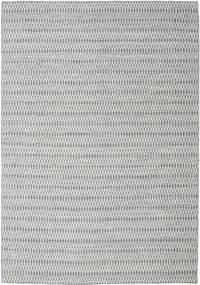 Kelim Long Stitch - Mørk Grå Teppe 240X340 Ekte Moderne Håndvevd Lys Grå (Ull, India)