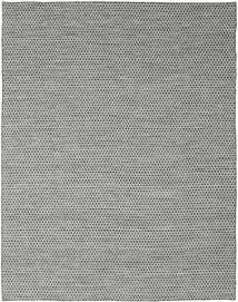 Kelim Honey Comb - Schwarz/Grau Teppich  240X300 Echter Moderner Handgewebter Hellgrau/Dunkelgrau (Wolle, Indien)