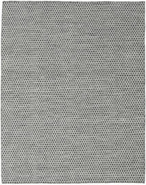 Kilim Honey Comb - Black/Grey Rug 190X240 Authentic  Modern Handwoven Light Grey/Dark Grey (Wool, India)