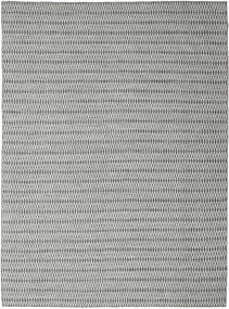 Kilim Long Stitch - Black/Grey Rug 290X390 Authentic  Modern Handwoven Light Grey/Dark Grey Large (Wool, India)