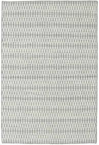 Kelim Long Stitch - Harmaa Matto 120X180 Moderni Käsinkudottu Vaaleanharmaa/Beige (Villa, Intia)