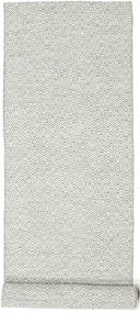 Kilim Goose Eye - Grey Rug 80X340 Authentic  Modern Handwoven Hallway Runner  Beige/Light Grey (Wool, India)