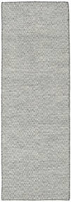 Kilim Goose Eye - Black/Grey Rug 80X240 Authentic  Modern Handwoven Hallway Runner  Dark Grey/Light Grey/Beige (Wool, India)