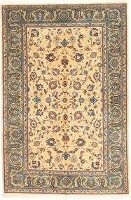 Keshan Alfombra 138X211 Oriental Hecha A Mano Gris Oscuro/Marrón Claro (Lana, Persia/Irán)