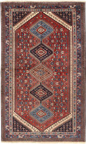 Yalameh Rug 159X266 Authentic  Oriental Handknotted Dark Red/Dark Blue (Wool, Persia/Iran)