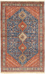 Yalameh Rug 160X263 Authentic  Oriental Handknotted Light Brown/Dark Grey (Wool, Persia/Iran)