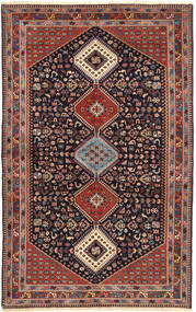 Yalameh Rug 164X265 Authentic  Oriental Handknotted Dark Red/Brown (Wool, Persia/Iran)