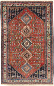 Yalameh Rug 160X255 Authentic  Oriental Handknotted Dark Red/Dark Blue (Wool, Persia/Iran)