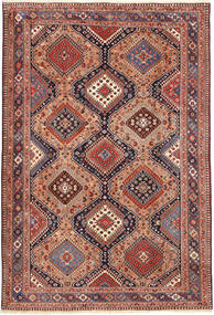 Yalameh Rug 167X248 Authentic  Oriental Handknotted Brown/Light Brown (Wool, Persia/Iran)
