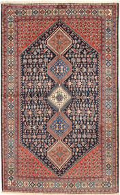 Yalameh Rug 157X255 Authentic  Oriental Handknotted Dark Grey/Light Brown (Wool, Persia/Iran)