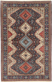 Yalameh Rug 153X249 Authentic  Oriental Handknotted Light Brown/Dark Green (Wool, Persia/Iran)