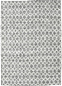 Tappeto Kilim Long Stitch - Scuro Grigio CVD18833