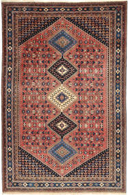 Yalameh Rug 203X310 Authentic  Oriental Handknotted Brown/Light Brown (Wool, Persia/Iran)