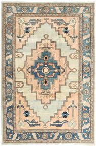 Heriz Matta 198X298 Äkta Orientalisk Handknuten Ljusbrun/Beige (Ull, Persien/Iran)