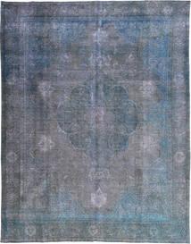 Colored Vintage Tæppe 298X383 Ægte Moderne Håndknyttet Mørkegrå/Lyseblå/Blå Stort (Uld, Pakistan)