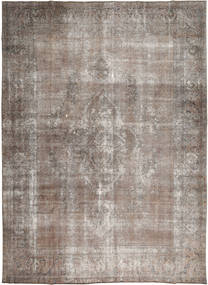Colored Vintage Rug 277X374 Authentic  Modern Handknotted Light Grey/Light Brown Large (Wool, Pakistan)