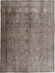 Colored Vintage Rug 294X384 Authentic  Modern Handknotted Light Grey/Dark Grey Large (Wool, Pakistan)