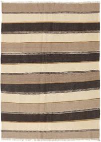Kelim Teppich  121X170 Echter Orientalischer Handgewebter Hellbraun/Dunkelbraun (Wolle, Persien/Iran)
