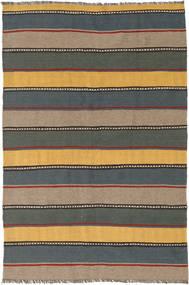Kilim Rug 127X190 Authentic  Oriental Handwoven Black/Light Brown (Wool, Persia/Iran)