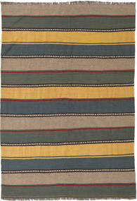 Kilim Rug 135X198 Authentic  Oriental Handwoven Dark Grey/Light Brown (Wool, Persia/Iran)