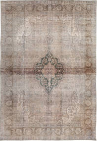 Colored Vintage Tapis 195X284 Moderne Fait Main Gris Clair/Marron Clair (Laine, Pakistan)