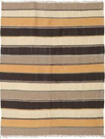 Kilim Rug 123X170 Authentic  Oriental Handwoven Light Brown/Dark Grey (Wool, Persia/Iran)