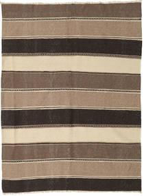 Kilim Tapete 157X207 Oriental Tecidos À Mão Castanho Claro/Cinza Escuro (Lã, Pérsia/Irão)